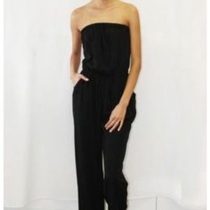 Coming Soon! Black Strapless Jumpsuit w/Rouching